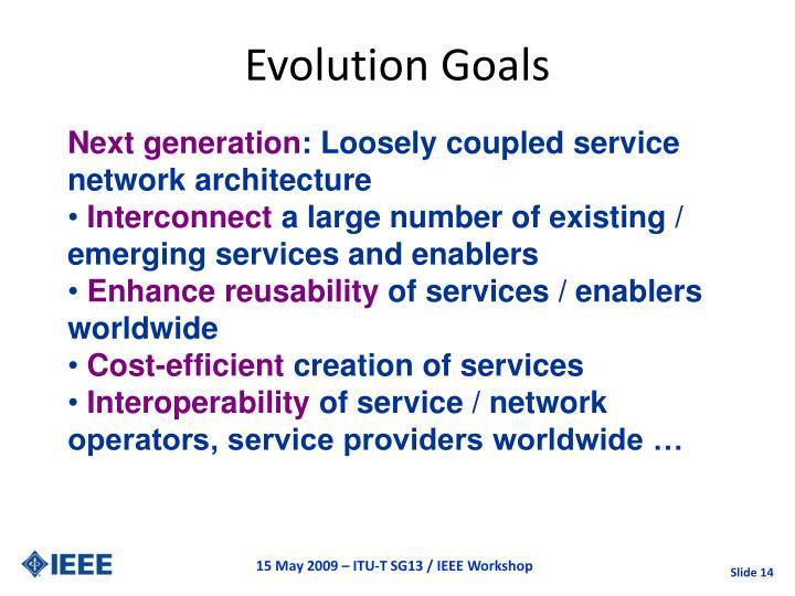 Evolution Goals
