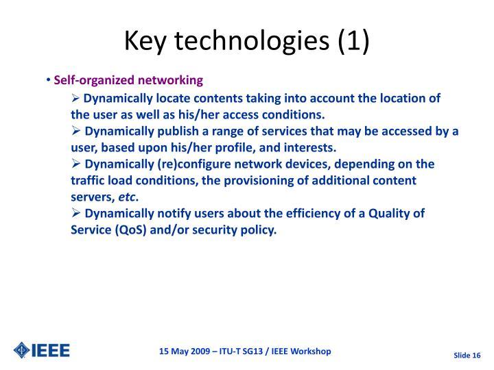 Key technologies (1)