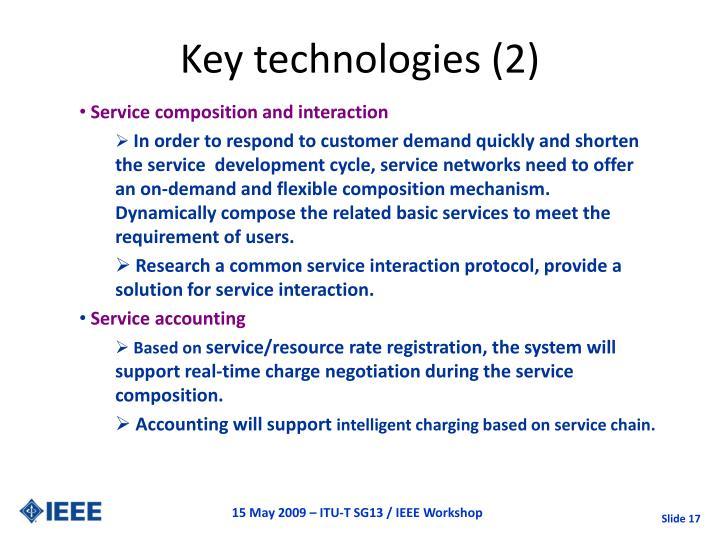 Key technologies (2)