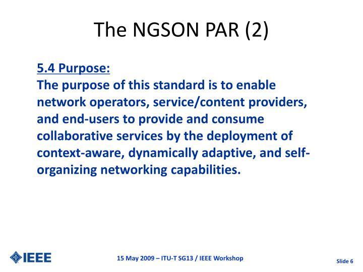 The NGSON PAR (2)