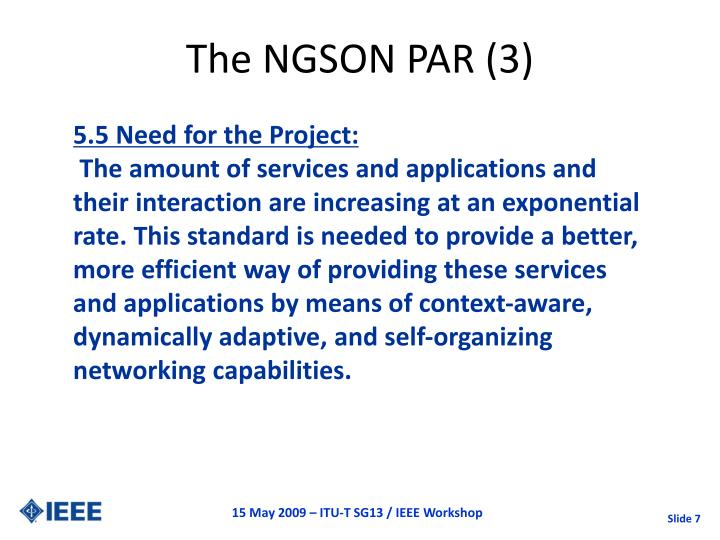 The NGSON PAR (3)