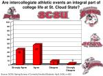 are intercollegiate athletic events an integral part of college life at st cloud state