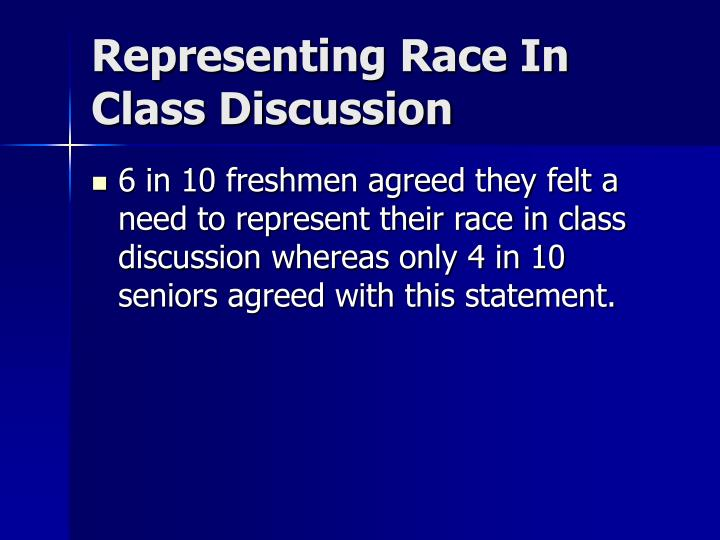 Representing Race In Class Discussion