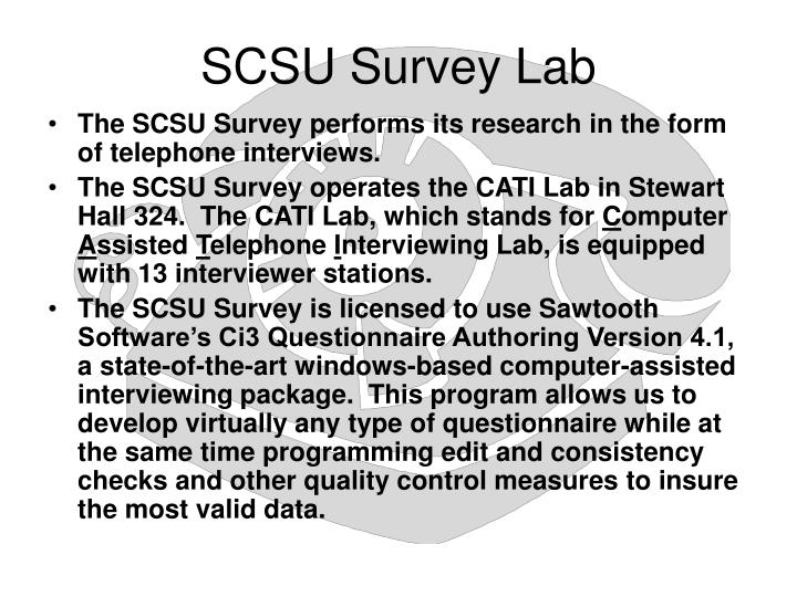 SCSU Survey Lab
