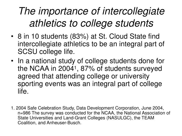 The importance of intercollegiate athletics to college students