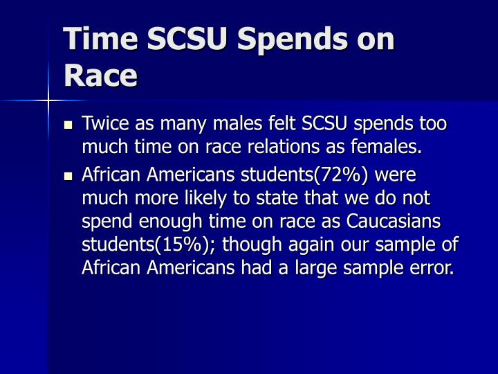 Time SCSU Spends on Race