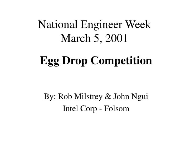 national engineer week march 5 2001