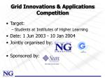 grid innovations applications competition