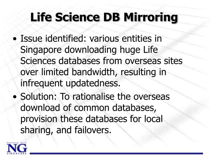 Life Science DB Mirroring