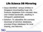 life science db mirroring
