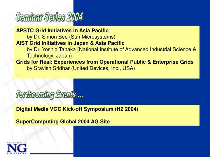 Seminar Series 2004