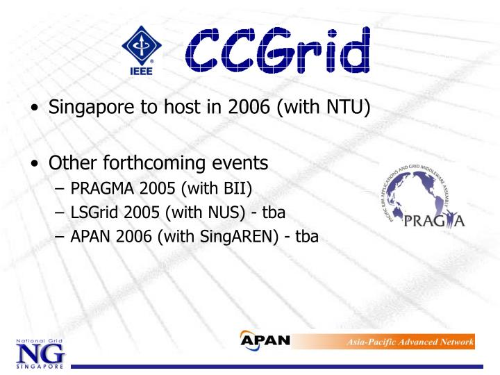 Singapore to host in 2006 (with NTU)