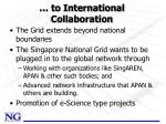 to international collaboration