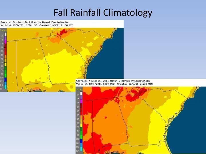 Fall Rainfall Climatology