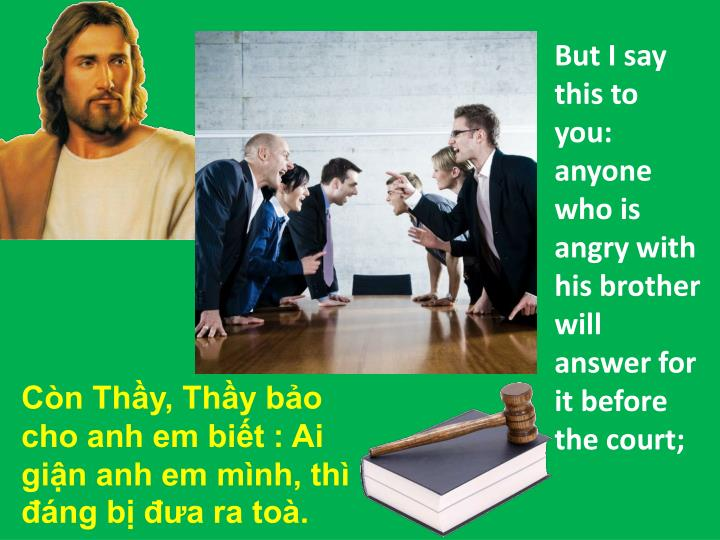But I say this to you: anyone who is angry with his brother will answer for it before the court;