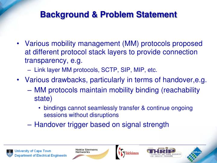 Background & Problem Statement