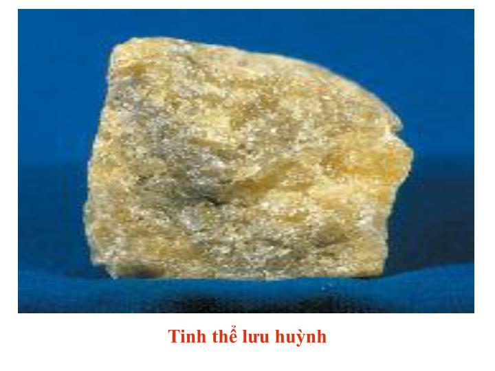 Tinh thể lưu huỳnh