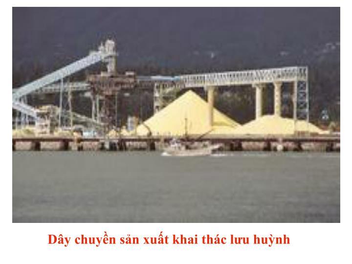 Dây chuyền sản xuất khai thác lưu huỳnh