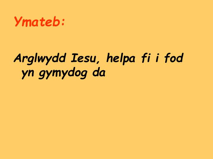 Ymateb: