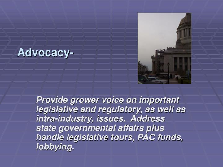 Advocacy-