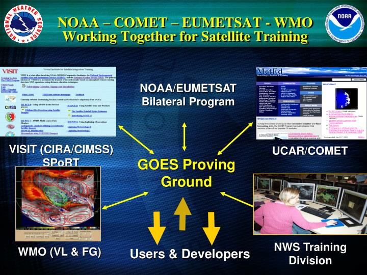 Noaa comet eumetsat wmo working together for satellite training