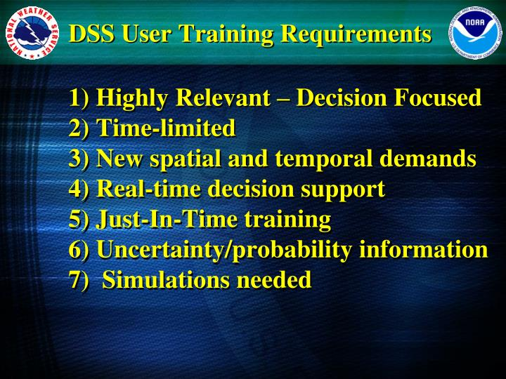 DSS User Training Requirements