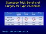 stampede trial benefits of surgery for type 2 diabetes