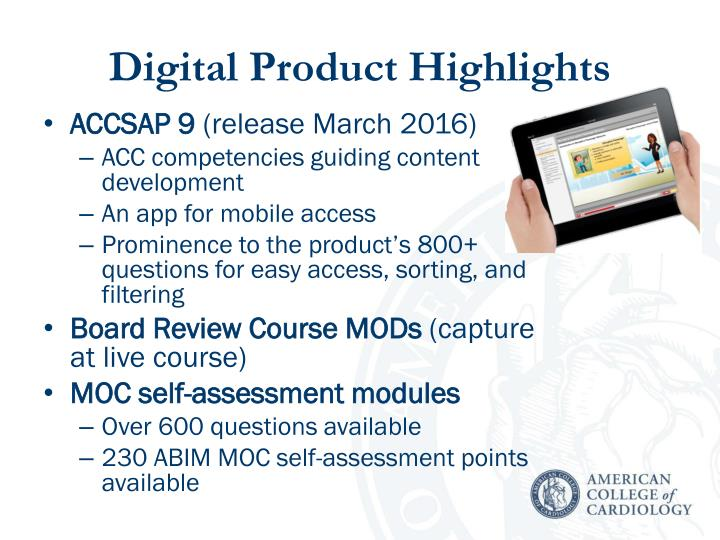 Digital product highlights