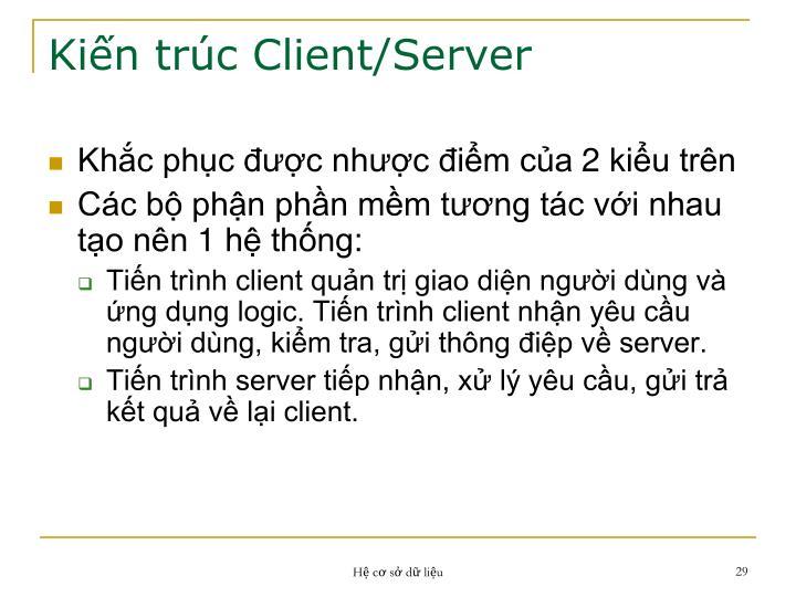 Kiến trúc Client/Server