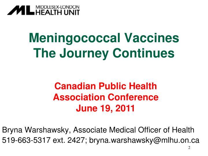 Meningococcal Vaccines