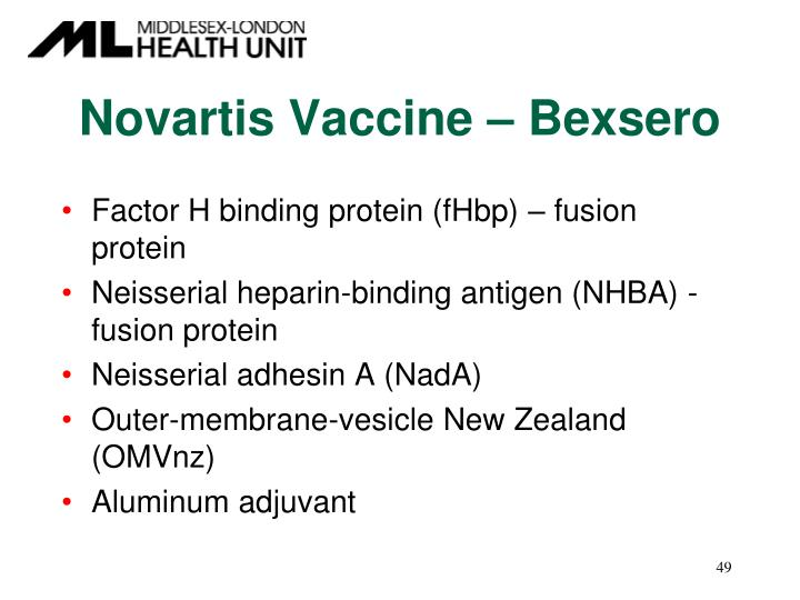 Novartis Vaccine – Bexsero