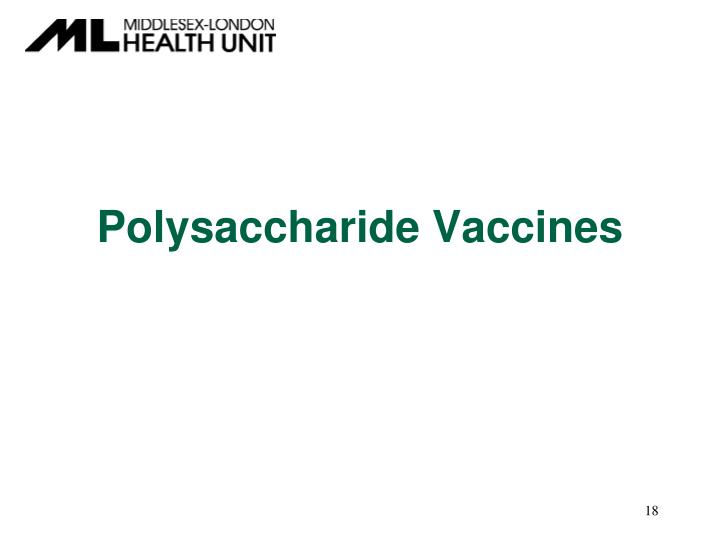 Polysaccharide Vaccines
