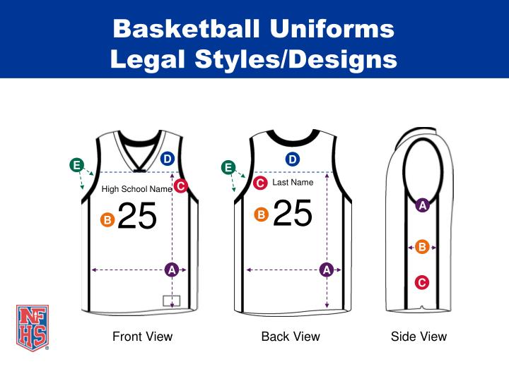Basketball uniforms legal styles designs1