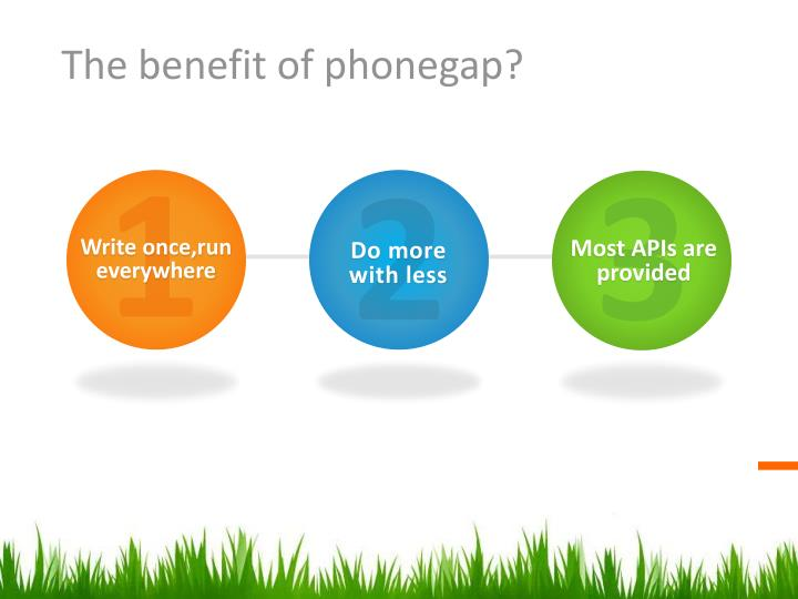 The benefit of phonegap?