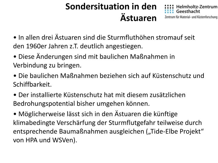 Sondersituation in den