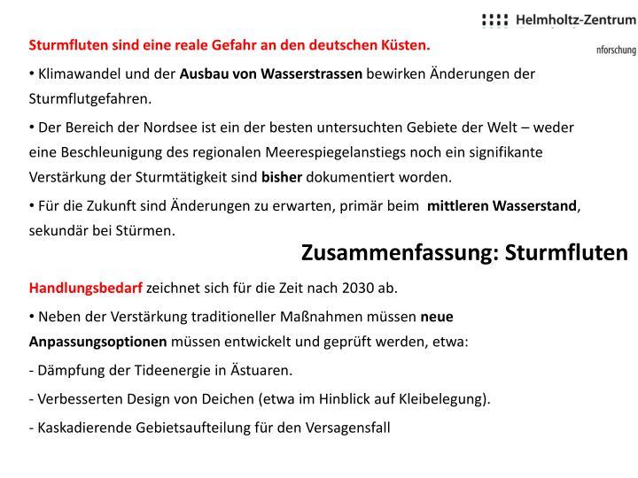 Sturmfluten sind eine reale Gefahr an den deutschen Küsten.