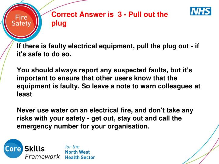 Correct Answer is  3 - Pull out the plug
