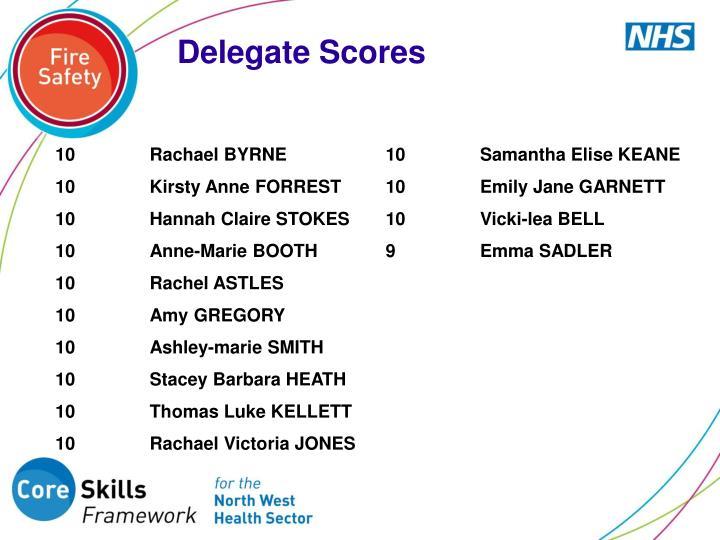 Delegate Scores