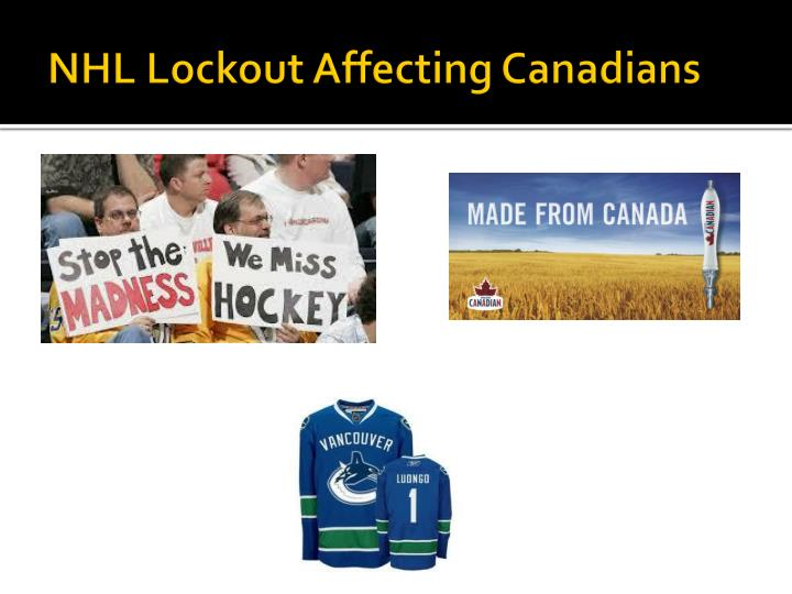 NHL Lockout Affecting Canadians