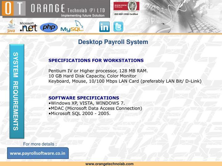 Desktop Payroll System
