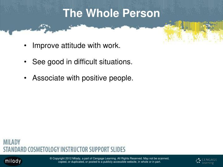 Improve attitude with work.