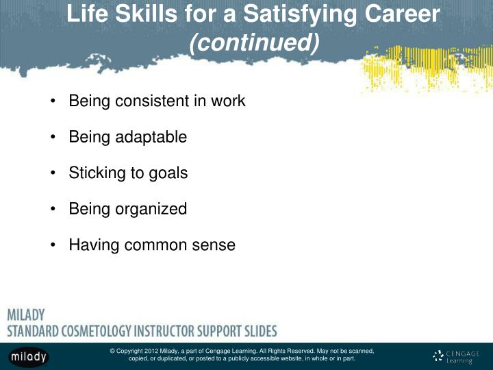 Life Skills for a Satisfying Career