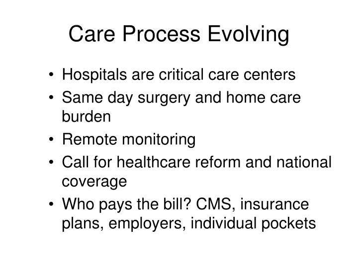 Care Process Evolving