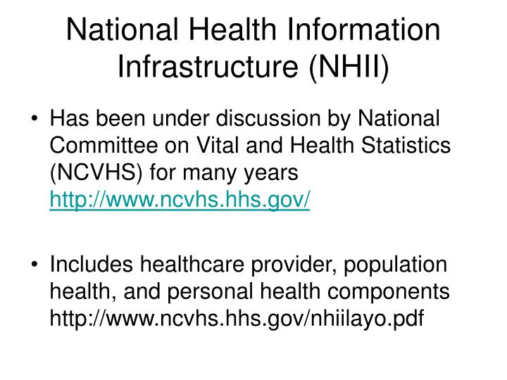National Health Information Infrastructure (NHII)