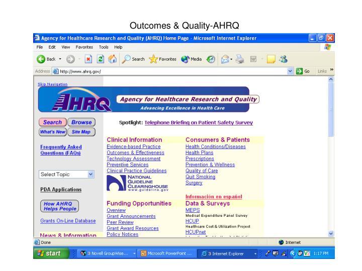 Outcomes & Quality-AHRQ
