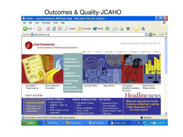 Outcomes & Quality-JCAHO