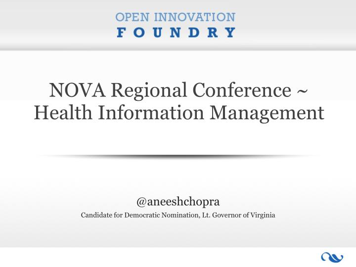 nova regional conference health information management