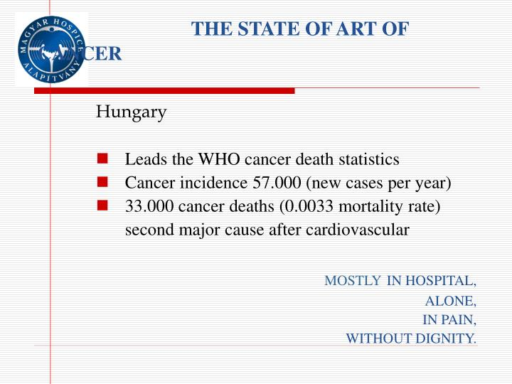 The state of art of cancer