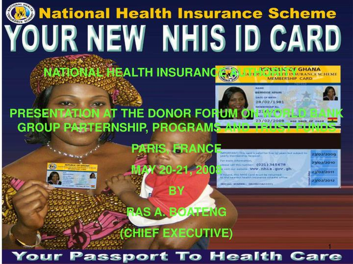 NATIONAL HEALTH INSURANCE AUTHORITY