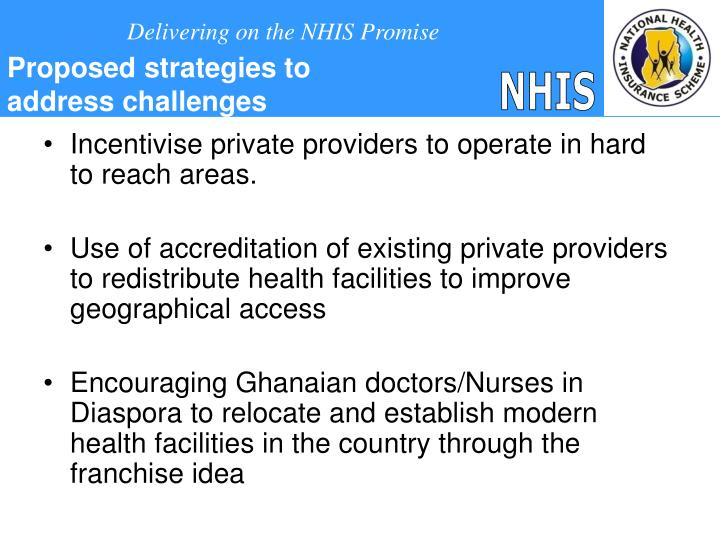 Incentivise private providers to operate in hard to reach areas.